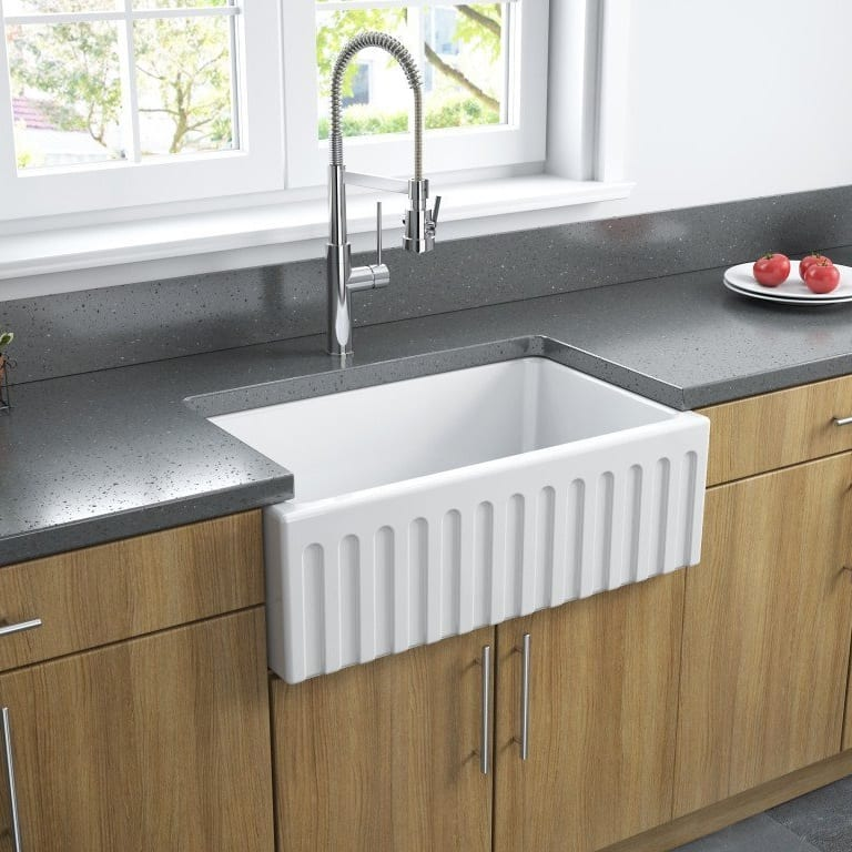 LaToscana 30 Inch Reversible Fireclay Farmhouse Sink