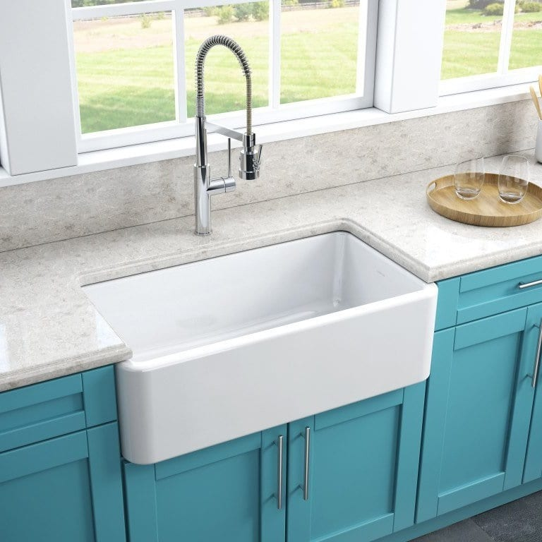 LaToscana 33 Inch Reversible Fireclay Farmhouse Sink