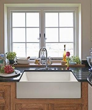 Ostia 24 Fireclay Farmhouse Apron White Reversible Kitchen Sink 0 1 300x360