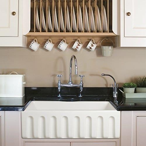 Ostia 30 Fireclay Farmhouse Apron White Reversible Kitchen Sink 0 0