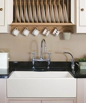 Ostia 30 Fireclay Farmhouse Apron White Reversible Kitchen Sink 0 1 300x360
