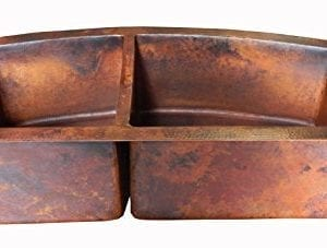 Rounded Apron Front Farmhouse Kitchen Double Bowl Mexican Copper Sink 6040 33X22 Inches 0 0 300x227