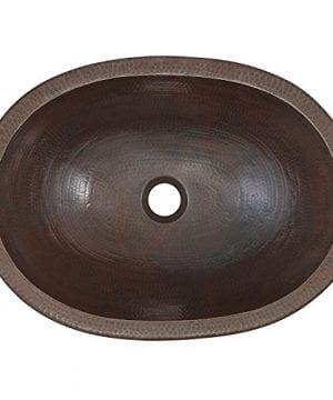 Sinkology SB202 19AG Wallace Dual Mount Handmade Pure Solid Bathroom Sink 19 Aged Copper 0 0 300x360