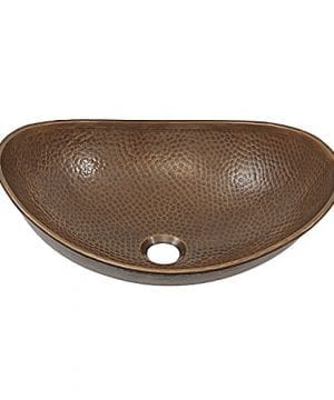 Sinkology SB305 19AC Confucius 19 Above Counter Vessel Copper Sink Handmade And Finished In Antique Copper 0 300x360