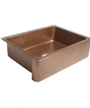 Sinkology SK302 30AC Courbet Farmhouse Apron Front Handmade Single Bowl Kitchen Sink 30 Hammered Antique Copper 0 0 300x360
