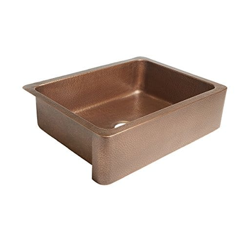 Sinkology SK302 30AC Courbet Farmhouse Apron Front Handmade Single Bowl Kitchen Sink 30 Hammered Antique Copper 0 0