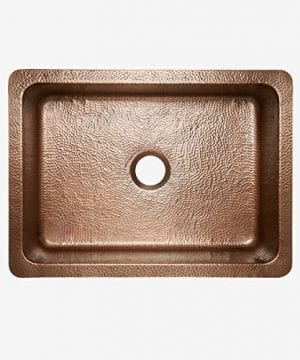 Sinkology SK302 30AC Courbet Farmhouse Apron Front Handmade Single Bowl Kitchen Sink 30 Hammered Antique Copper 0 1 300x360