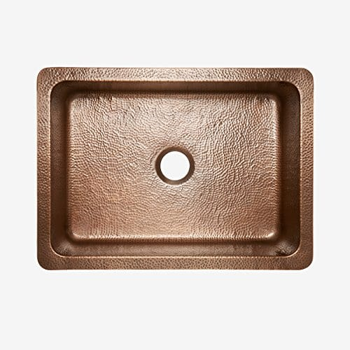 Sinkology SK302 30AC Courbet Farmhouse Apron Front Handmade Single Bowl Kitchen Sink 30 Hammered Antique Copper 0 1