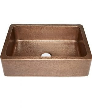 Sinkology SK302 30AC Courbet Farmhouse Apron Front Handmade Single Bowl Kitchen Sink 30 Hammered Antique Copper 0 300x360