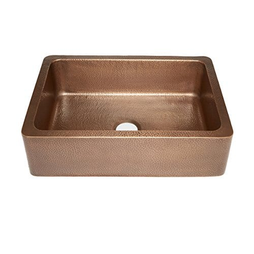Sinkology SK302 30AC Courbet Farmhouse Apron Front Handmade Single Bowl Kitchen Sink 30 Hammered Antique Copper 0