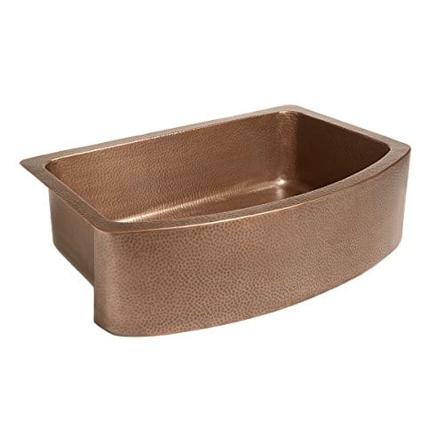 Sinkology SK304 33B Ernst Farmhouse Apron Handmade Pure Bow Front Single Bowl Sink 33 Antique Copper 0 1