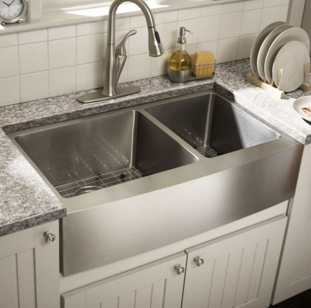 Stainless Steel Undermount Farmhouse 60-40 Double Bowl Kitchen Sink