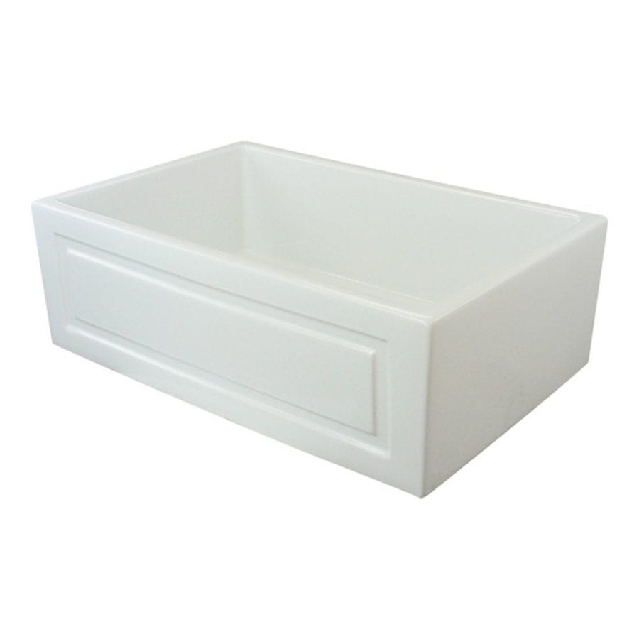 Transolid Versailles 30 Inch Single Bowl Reversible French Plain Fireclay Farmhouse Sink