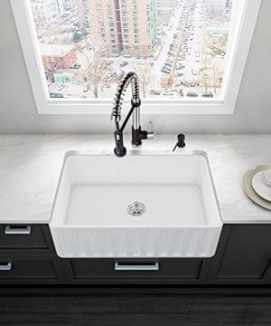 VIGO 30 Inch Farmhouse Apron Single Bowl Matte Stone Kitchen Sink 0 0 300x360