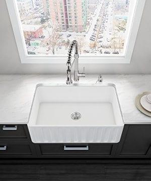 VIGO 33 Inch Farmhouse Apron Single Bowl Matte Stone Kitchen Sink 0 0 300x360