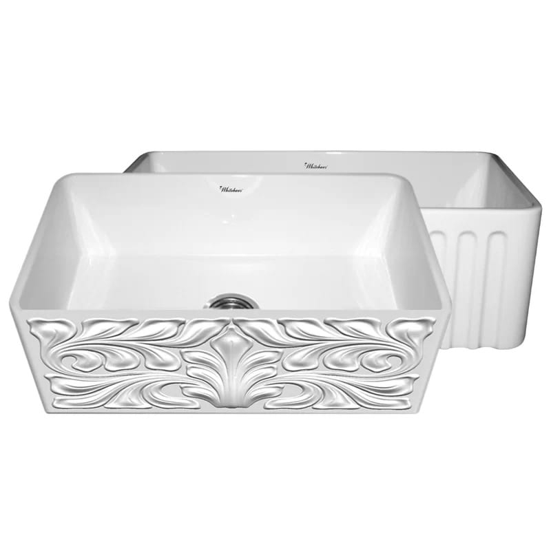 Whitehaus Collection Gothichaus Reversible Fireclay Kitchen Sink - 30 Inch