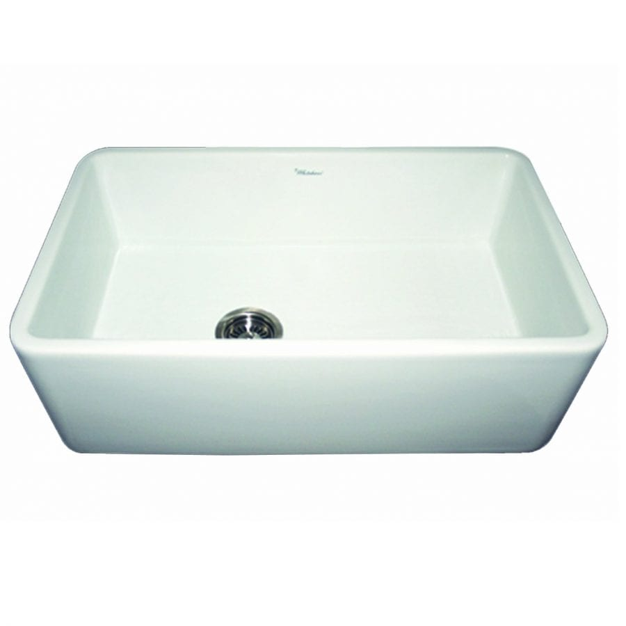 Whitehaus Collection White 30 Inch Reversible Fireclay Farmhouse Sink