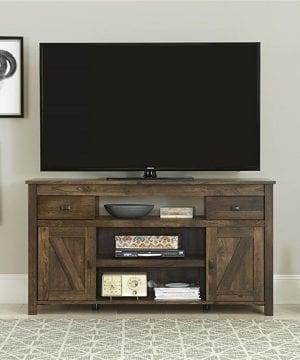 ameriwood altra farmington rustic wood tv stand