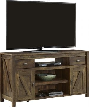 ameriwood altra farmington rustic wood tv stand