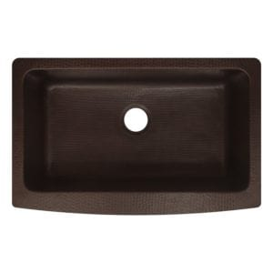 antica farmhouse apron front copper sink