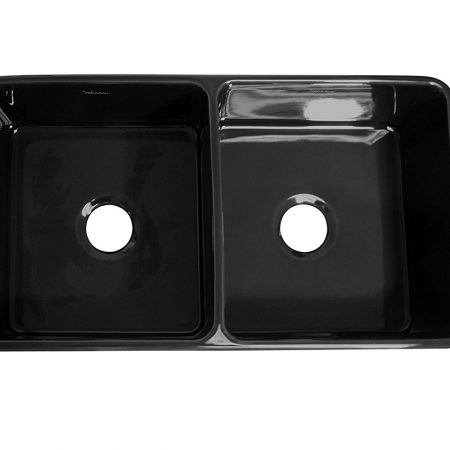 black farmhouse sink