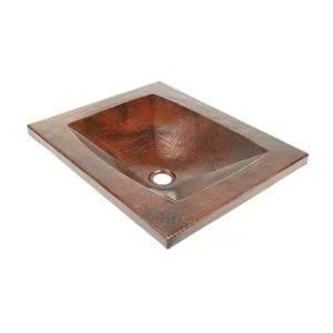 dvontz copper rectangular undermount bathroom sink