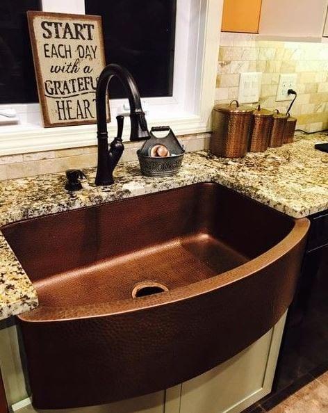 ernst farmhouse kitchen sink copper 33