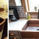 farmhouse copper sinks