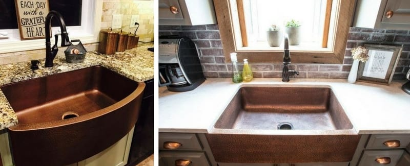 farmhouse copper sinks