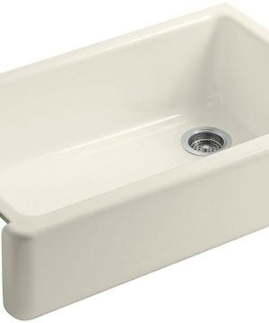 kohler self-trimming white apron farmhouse kitchen sink 1