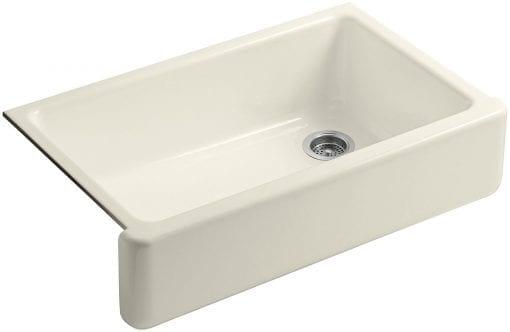 kohler self-trimming white apron farmhouse kitchen sink 1