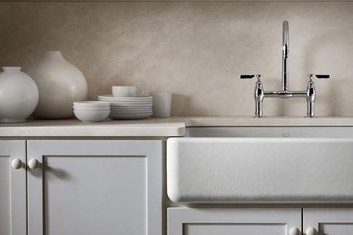 kohler self-trimming white apron farmhouse kitchen sink 2