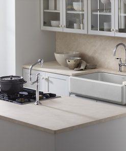 kohler self-trimming white apron farmhouse kitchen sink 3