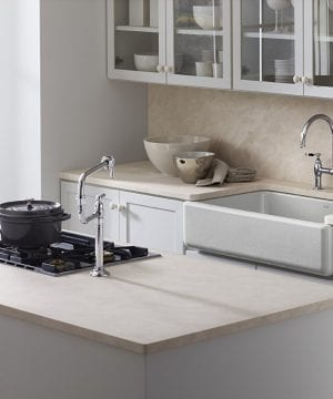kohler self-trimming white apron farmhouse kitchen sink 3