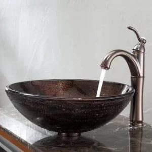 kraus copper circular vessel sink