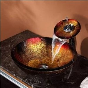 krauss copper circular vessel bathroom sink