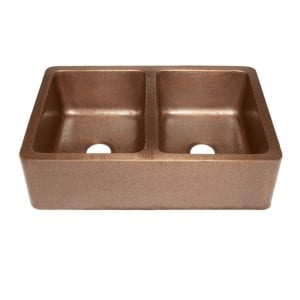 rockwell farmhouse apron front handmade copper kitchen sink