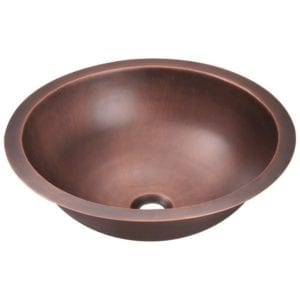 single bowl bathroom copper sink