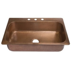 sinkology angelico drop-in copper kitchen sink