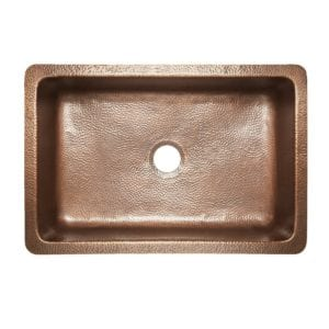 sinkology farmhouse copper kitchen sink