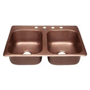 sinkology raphael dual mount copper sink