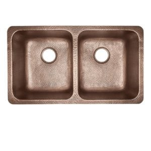 sinkology rivera luxury series kitchen copper sink