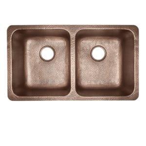 sinkology rivera luxury series kitchen copper sink