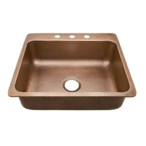 sinkology rosa drop-in copper kitchen sink