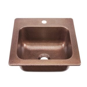 sinkology seurat drop-in handmade pure copper sink