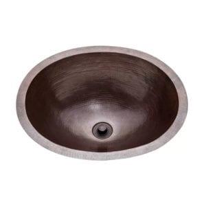 soleil copper oval undermount bathroom sink