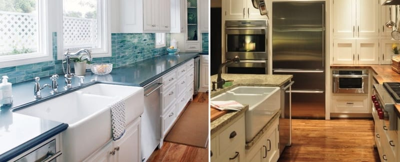 white farmhouse sinks