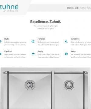 Zuhne Farmhouse Stainless Steel Kitchen Sink 3 300x360