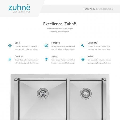 Zuhne Farmhouse Stainless Steel Kitchen Sink 3 510x510