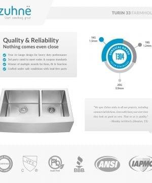 Zuhne Farmhouse Stainless Steel Kitchen Sink 4 300x360